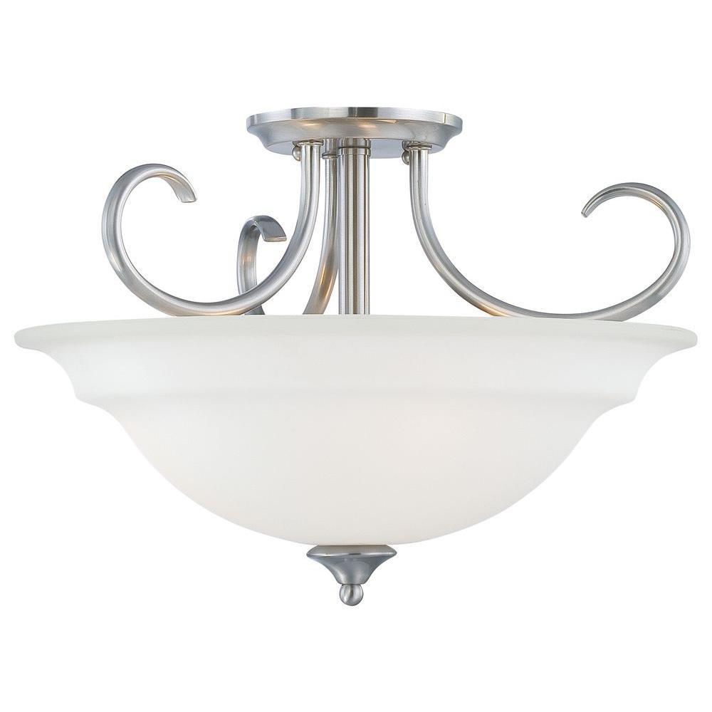 Bella 3-Light Brushed Nickel Pendant