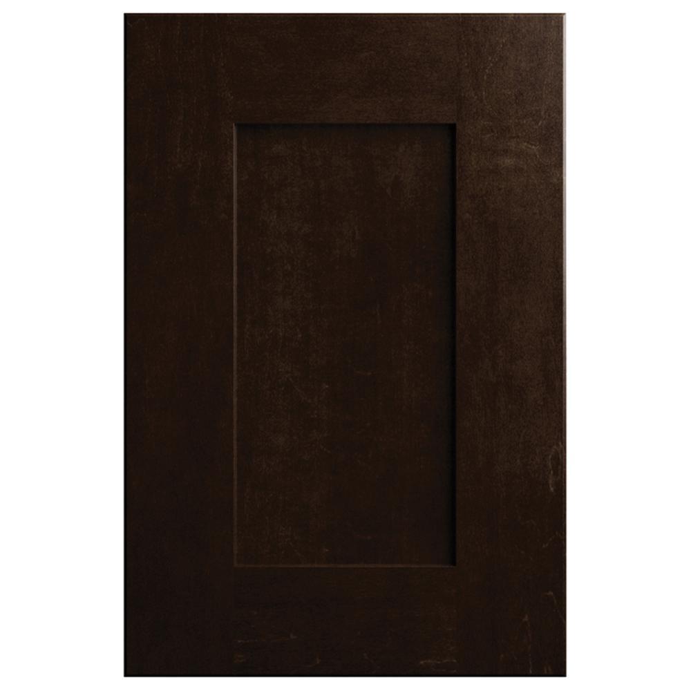 11x15 in. Clay Cabinet Door Sample in Espresso