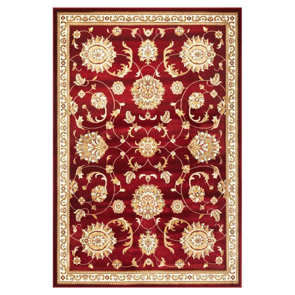 Traditional Mahal Red 3 ft. 3 in. x 4 ft. 11