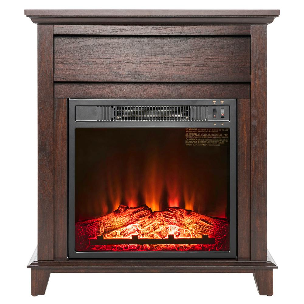 Akdy 27 In Freestanding Electric Fireplace Heater In Wooden Fp0095 The Home Depot