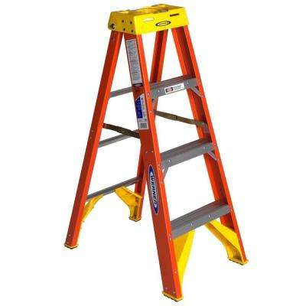 4 ft. Fiberglass Step Ladder with 300 lb. Load Capacity Type IA