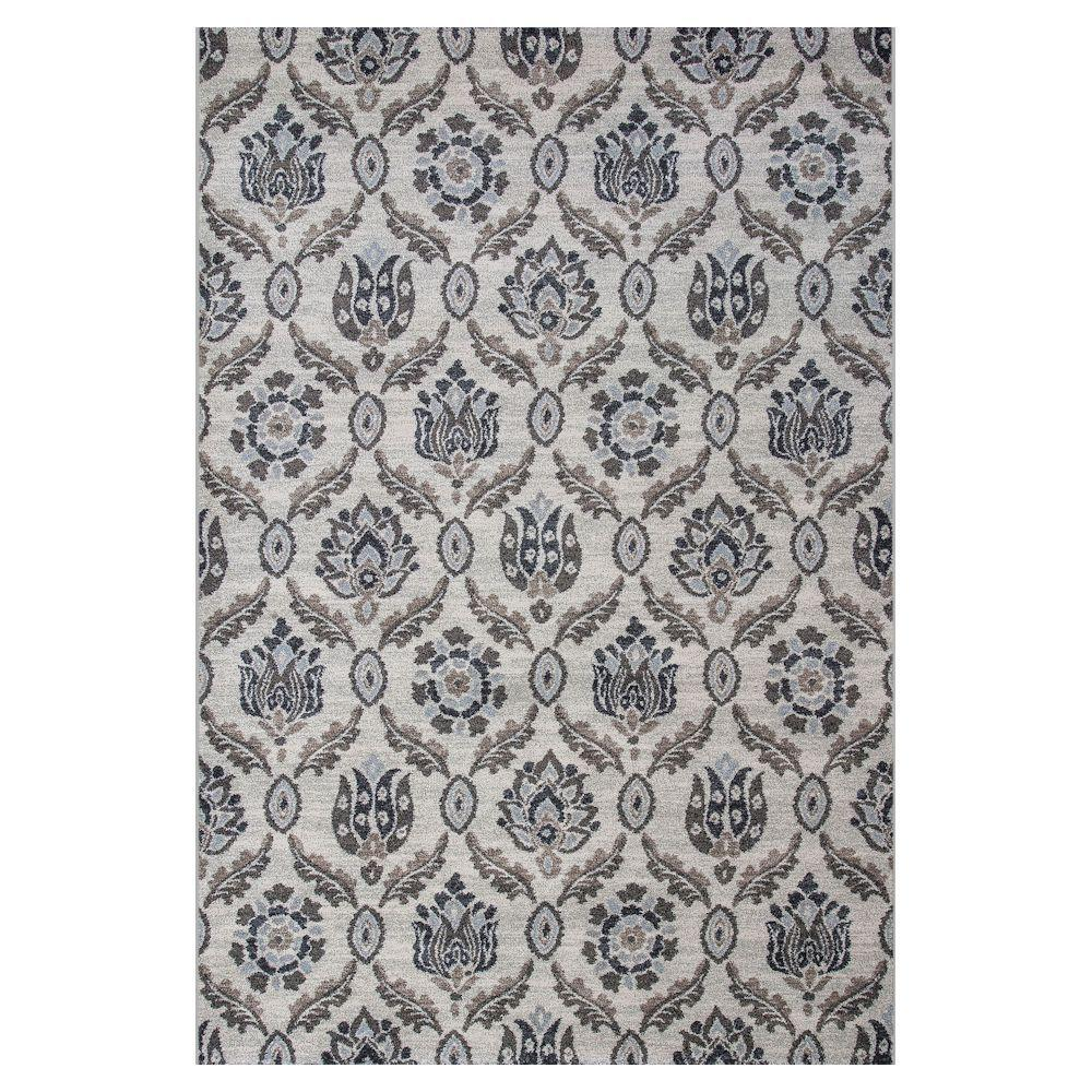 Kas Rugs Today's Scroll Ivory/Black 7 ft. 10 in. x 11 ft. 2 in. Area Rug