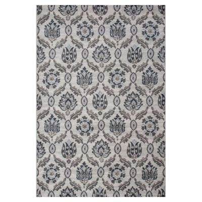 Today's Scroll Ivory/Black 7 ft. 10 in. x 11 ft. 2 in. Area Rug