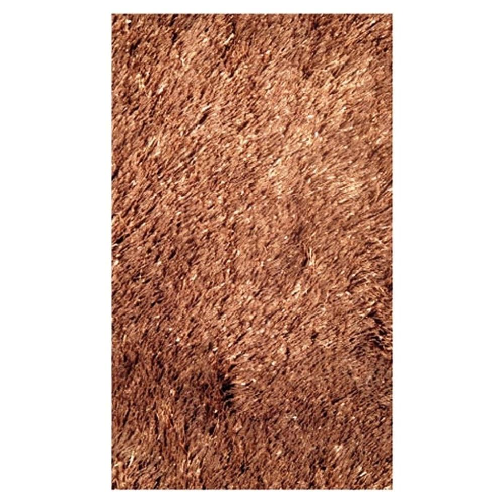 LA Rug Silky Shag Brown 4 ft. 11 in. x 7 ft. 3 in. Area Rug