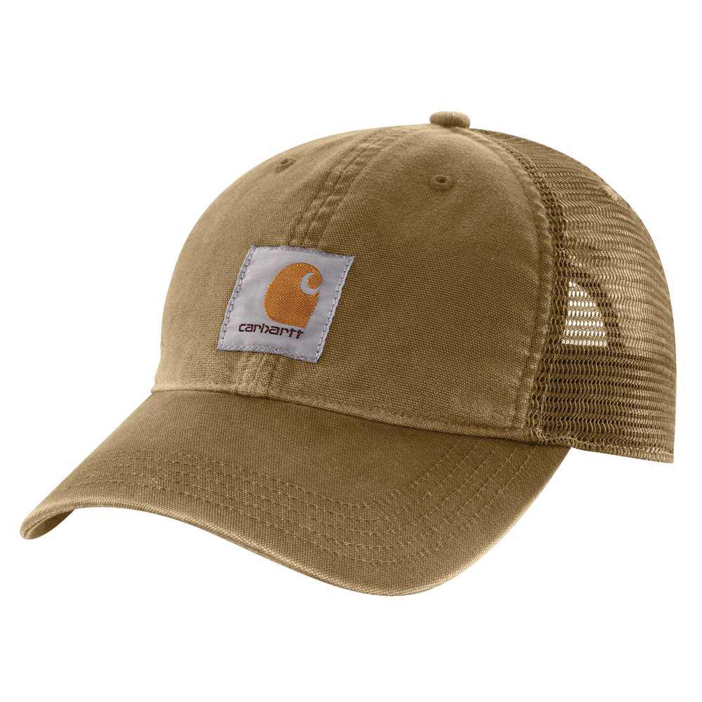 d3b1e6f2 Carhartt Men's OFA Dark Khaki Cotton Cap Headwear-100286-253 - The Home  Depot