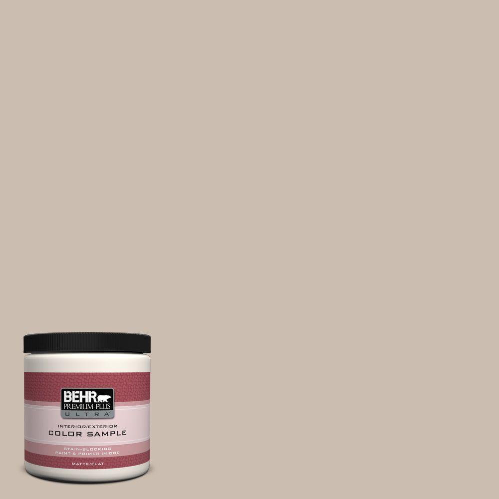 BEHR Premium Plus Ultra 8 oz. #PPU5-13 Creamy Mushroom Matte Interior/Exterior Paint and Primer in One Sample