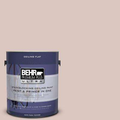 1 gal. No.UL110-14 Ceiling Tinted to Wisp Of Mauve Flat Interior Paint and Primer in One