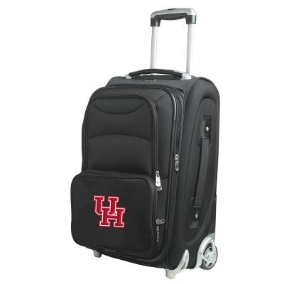 Denco NCAA Houston 21 in. Black Carry-On Rolling Softside Suitcase