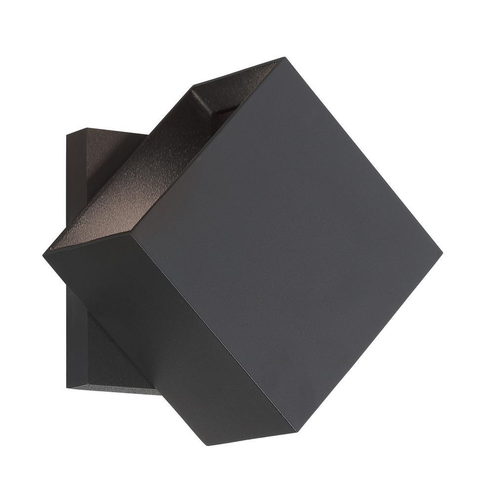 Revolve 2-Light Sand Black LED Outdoor Light Wall Sconce