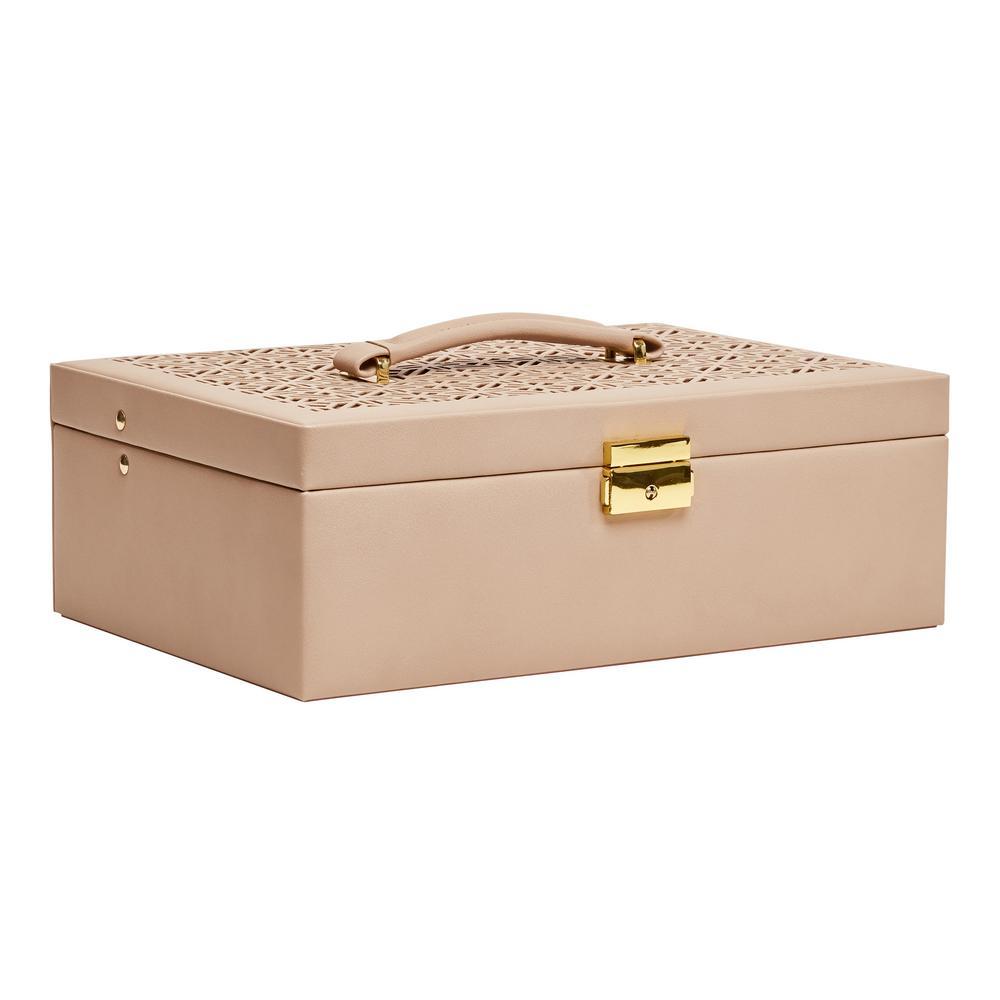 Naomi Tan Faux Leather Jewelry Box