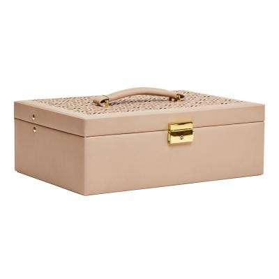 Naomi Tan Faux Leather Jewelry Box