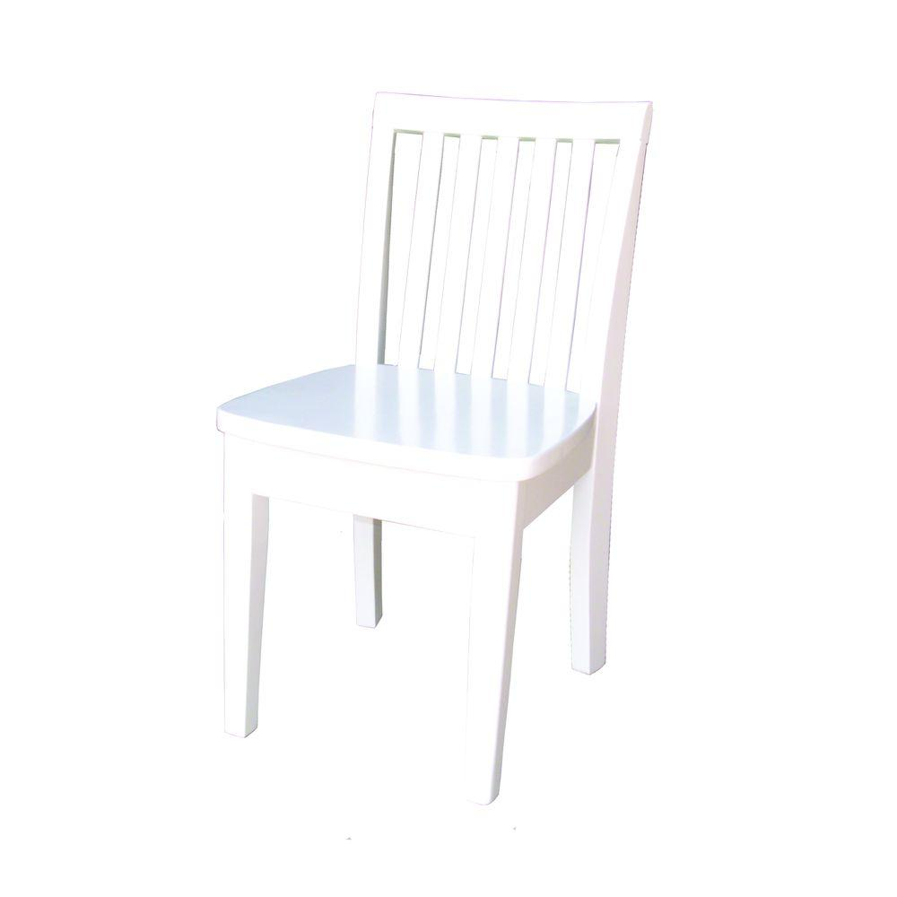 International Concepts White Wood Kids Chair (Set Of 2)