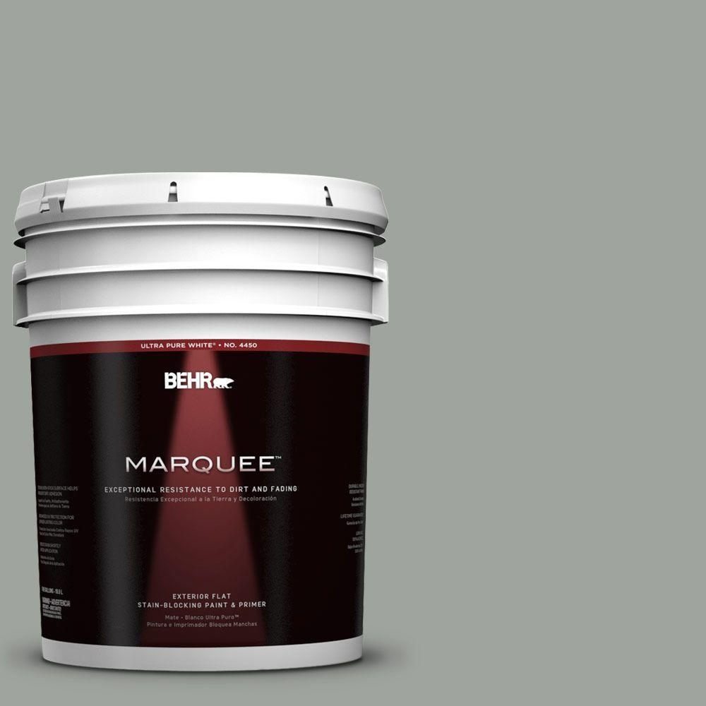 BEHR MARQUEE 5-gal. #710F-4 Sage Gray Flat Exterior Paint