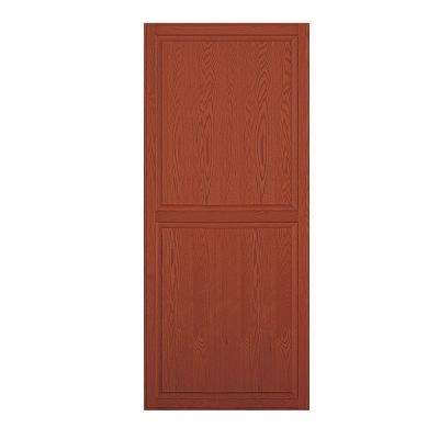 Solid Oak Double End Side Panel for 18 in. D Executive Wood Locker in Medium Oak