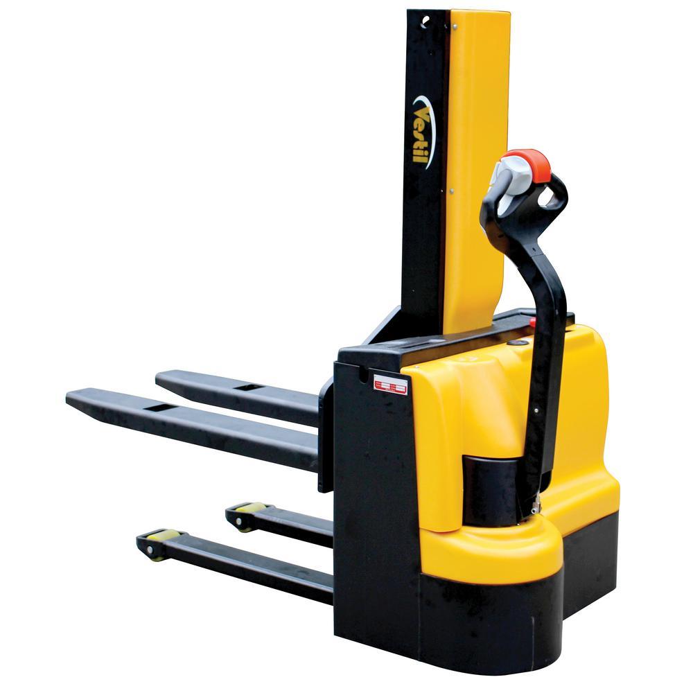 Vestil 3,000 lb. Capacity 43 inch Narrow Mast Stacker with Power Lift, Power... by Vestil