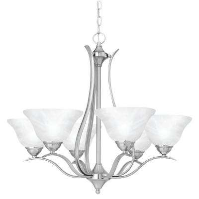 Prestige 6-Light Brushed Nickel Hanging Chandelier