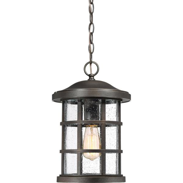 Crusade 1-Light Bronze Outdoor Pendant Light