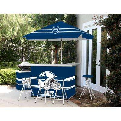 Indianapolis Colts 6 Piece All Weather Patio Bar Set With 6 Ft. Umbrella Part 55