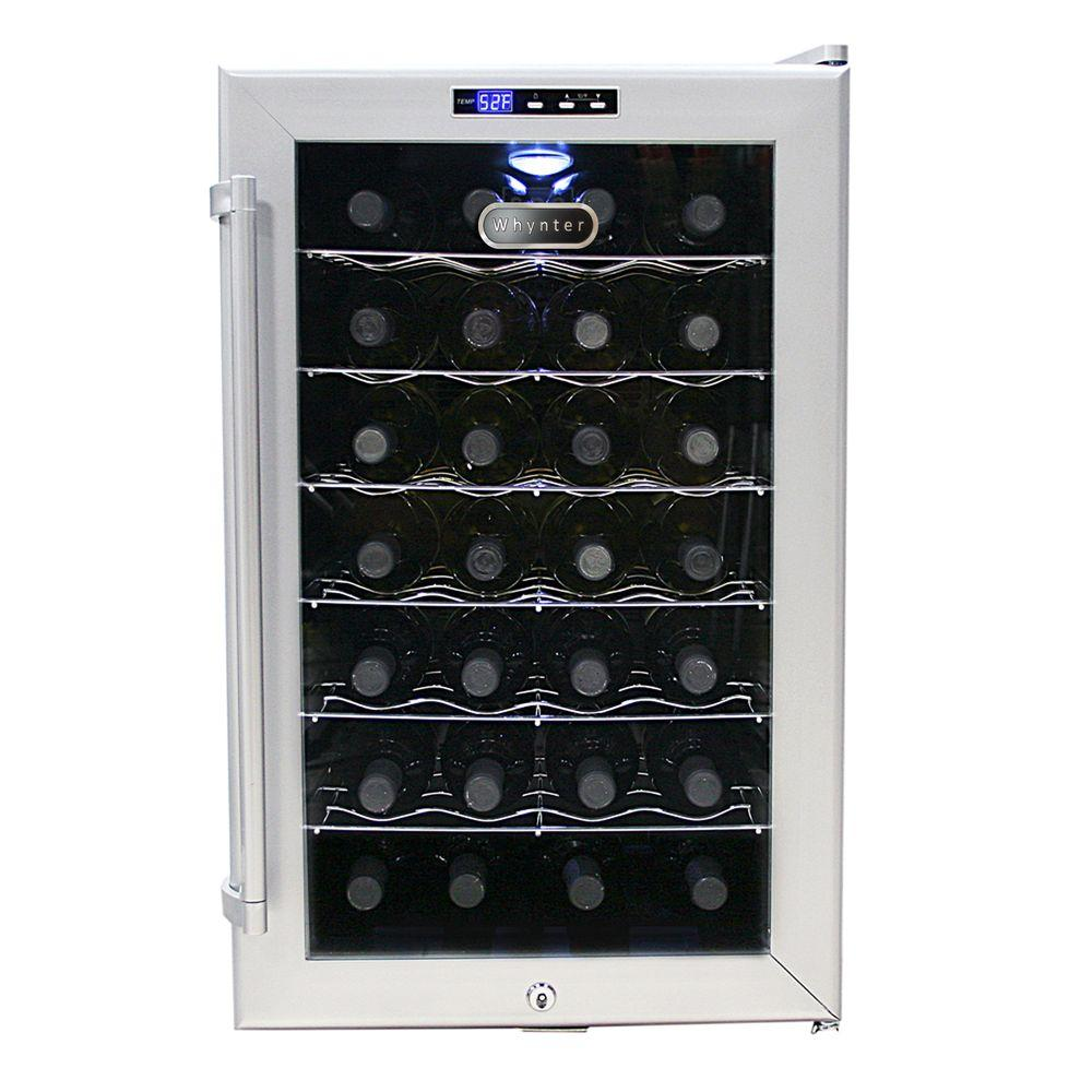 Whynter 28-Bottle Thermoelectric Wine Cooler, Grey