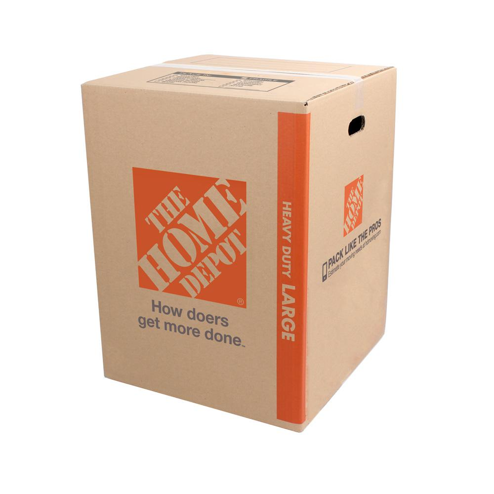 Heavy-Duty Large Moving Box with Handles (18 in. L x 18 in. W x 24 in. D)