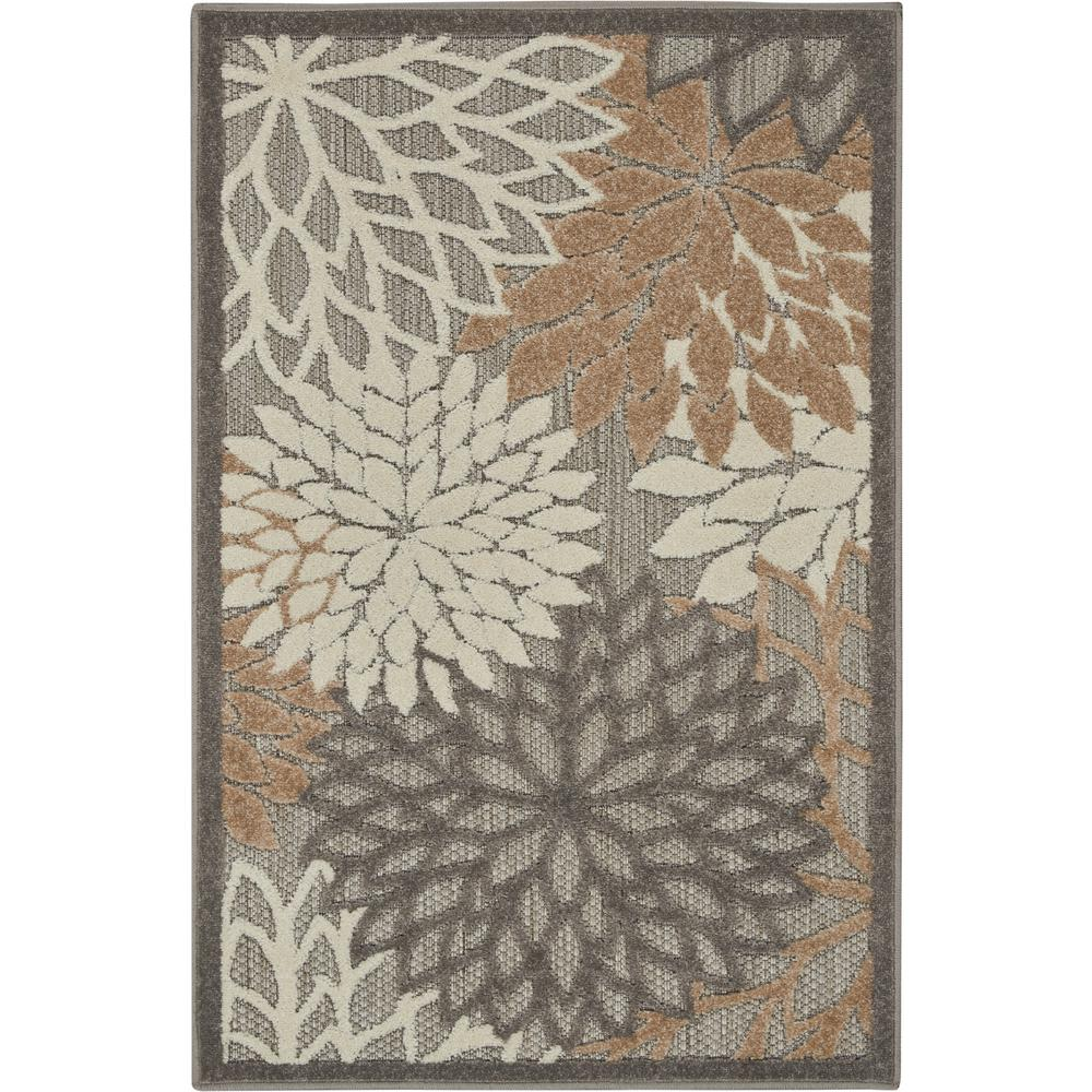 Nourison Aloha Patio Natural 2 Ft 8 In X 4 Ft Area Rug