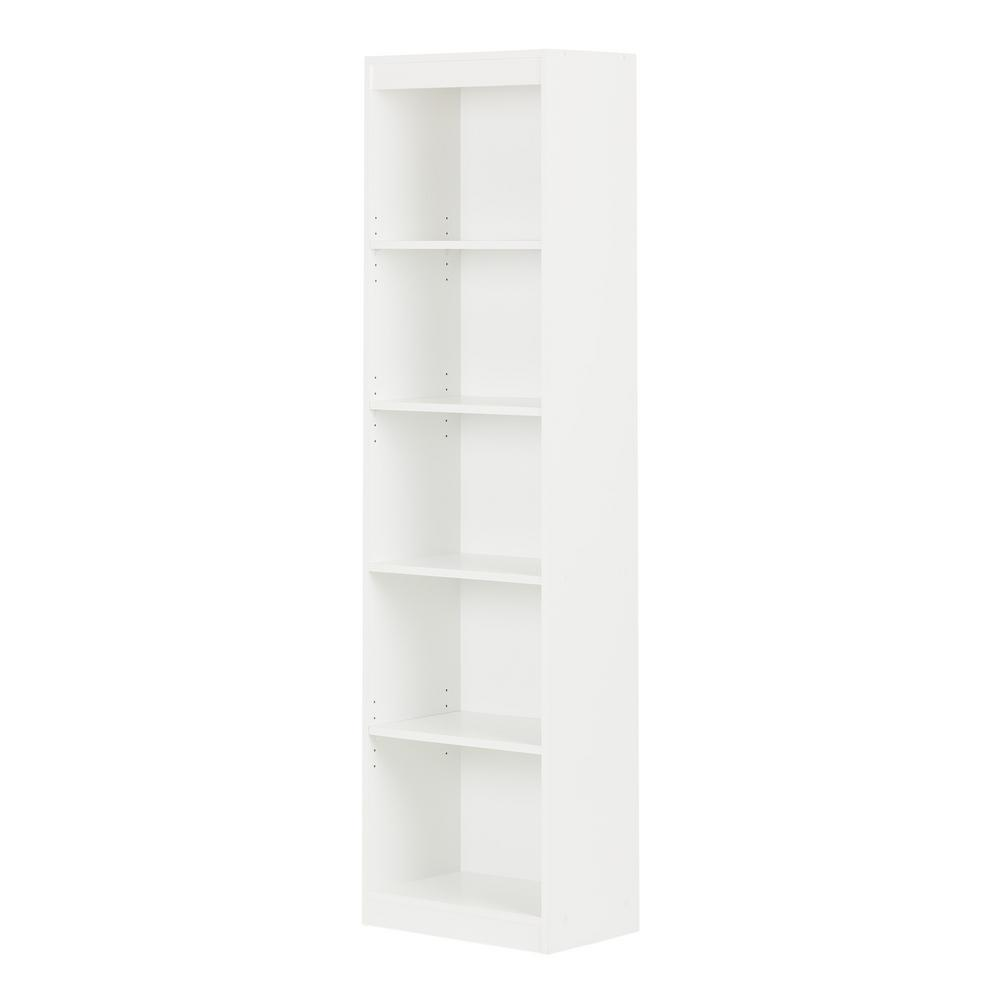 South Shore Axess 5 Shelf Bookcase In Pure White