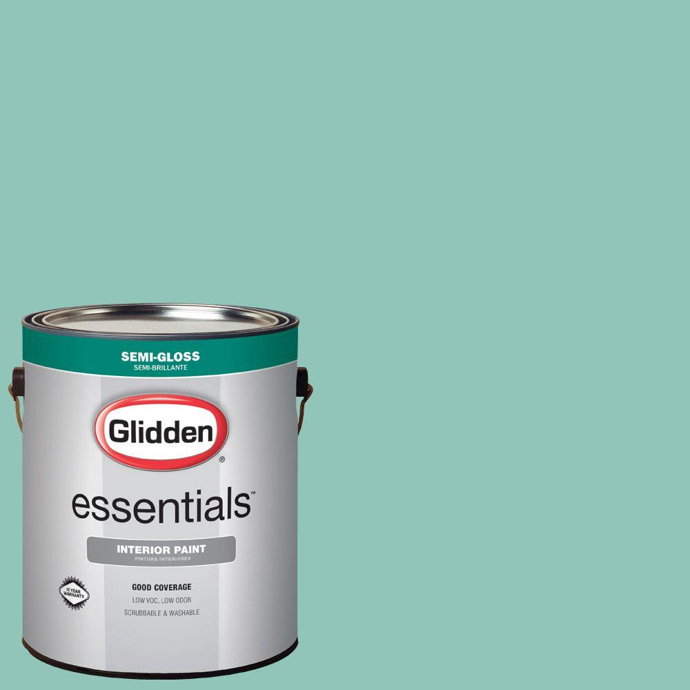 Reviews For Glidden Essentials 1 Gal Hdgb07u Soft Schooner Green Semi Gloss Interior Paint Hdgb07ue 01sn The Home Depot