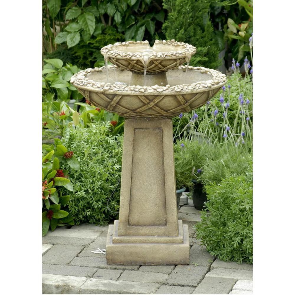 Fountain Cellar Bird Bath Outdoor Water