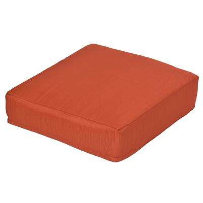 Oak Cliff Quarry Red Replacement Outdoor Ottoman Cushion