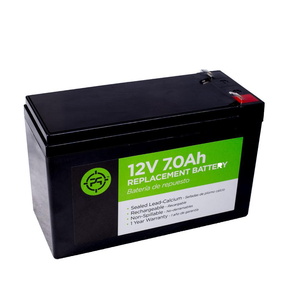Lead Acid 12-Volt 7.0 Ah Black Replacement Battery