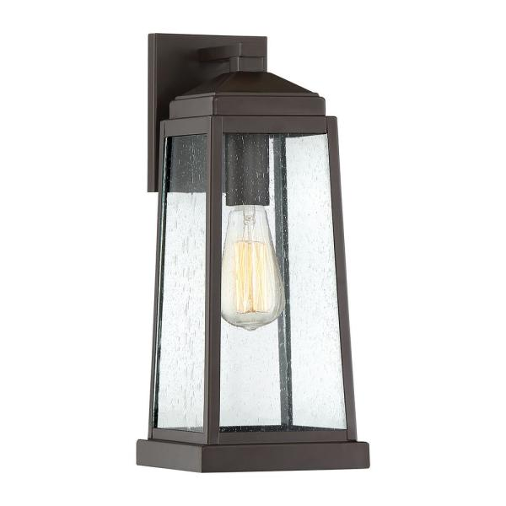 Quoizel Ravenel 1 Light Bronze Outdoor Wall Lantern Sconce Rnl8407wt The Home Depot