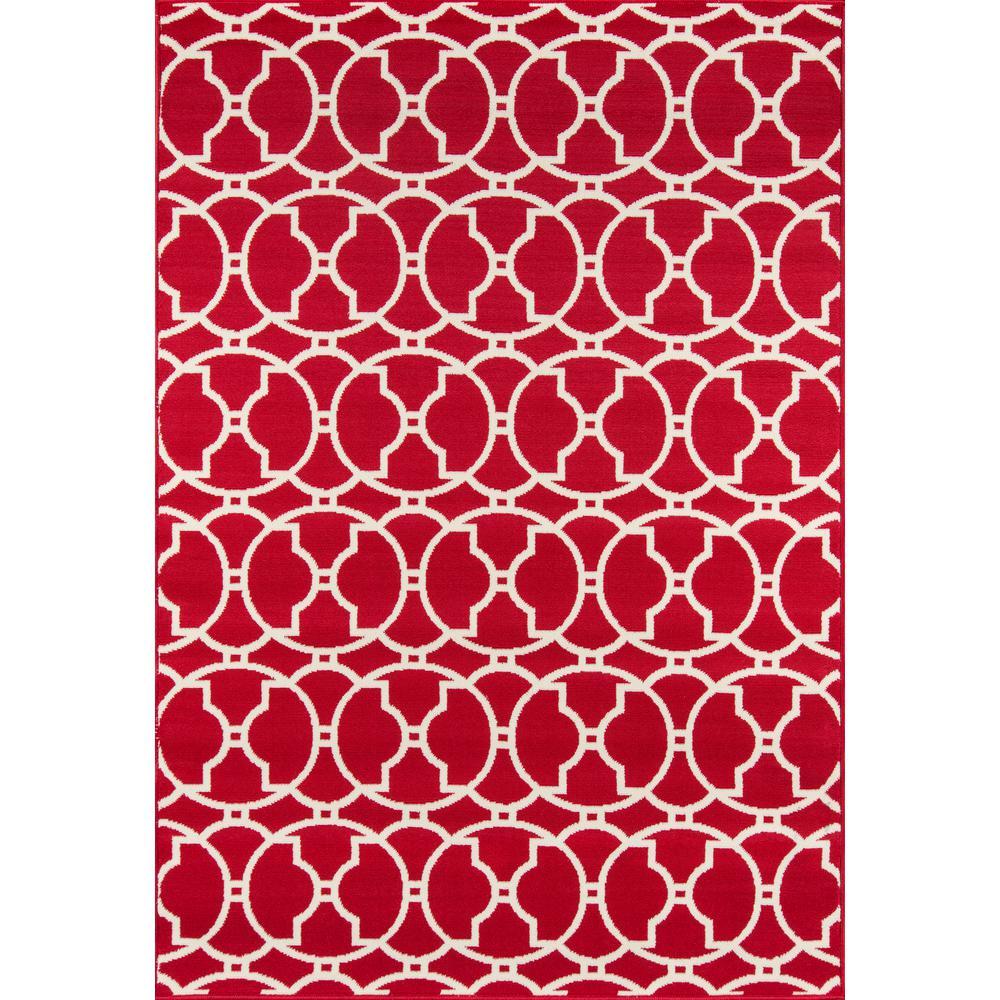 Baja Moroccan Tile Red 7 ft. 10 in. X 10 ft. 10 in. Indoor/Outdoor Area Rug