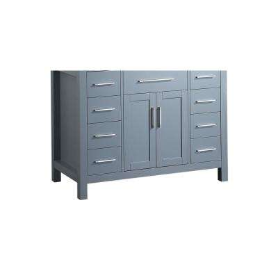 Bosconi 43 in. Main Cabinet Only in Grey with Polished Chrome Hardware