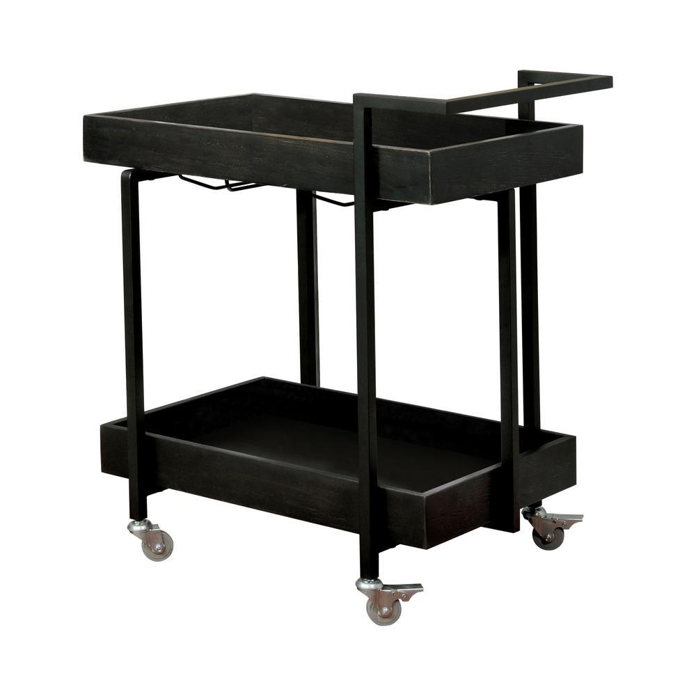 Wrenna Black Serving Cart