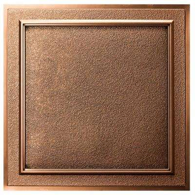 Belgium 2 ft. x 2 ft. Lay-in or Glue-up Ceiling Tile in Antique Bronze (40 sq. ft. / case)