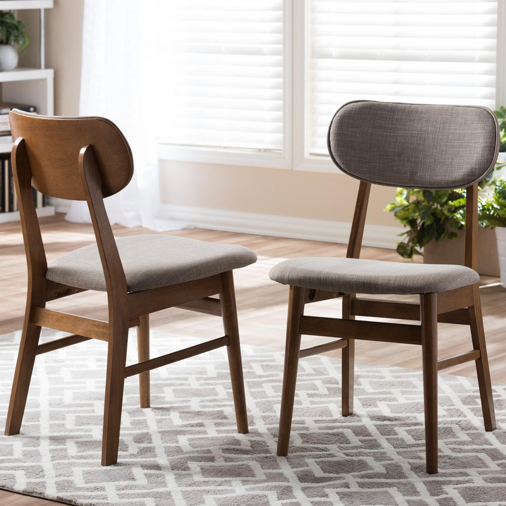 Baxton studio sacramento gray fabric upholstered dining for Printed upholstered dining chairs