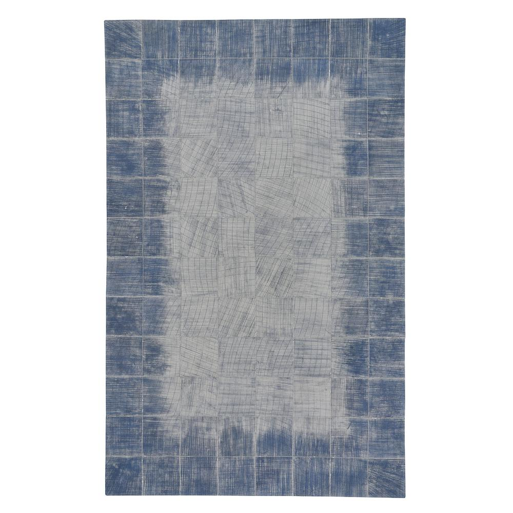 Capel Butte Brushed Blocks Carolina Blue 5 ft. x 8 ft. Area Rug Capel Butte Brushed Blocks Carolina Blue 5 ft. x 8 ft. Area Rug