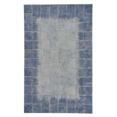 Butte Brushed Blocks Carolina Blue 8 ft. x 10 ft. Area Rug