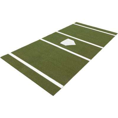 6 ft. x 12 ft. Home Plate Mat in Green for Baseball