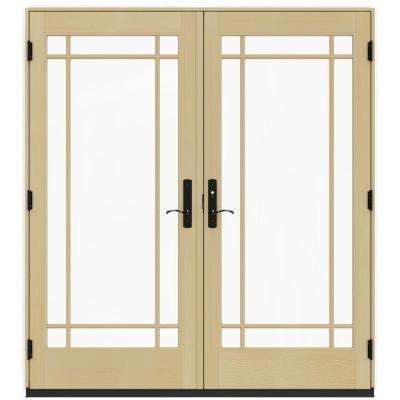 French patio door patio doors exterior doors the home depot 72 in x 80 in w 4500 white clad wood left hand planetlyrics Gallery