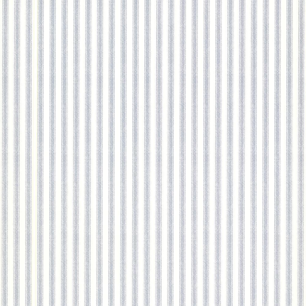 56.4 sq. ft. Longitude Blue Pinstripes Wallpaper