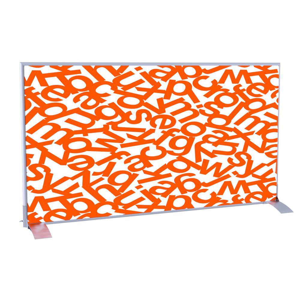 Paperflow easyScreen Horizontal Divider Screen in Orange Alphabet