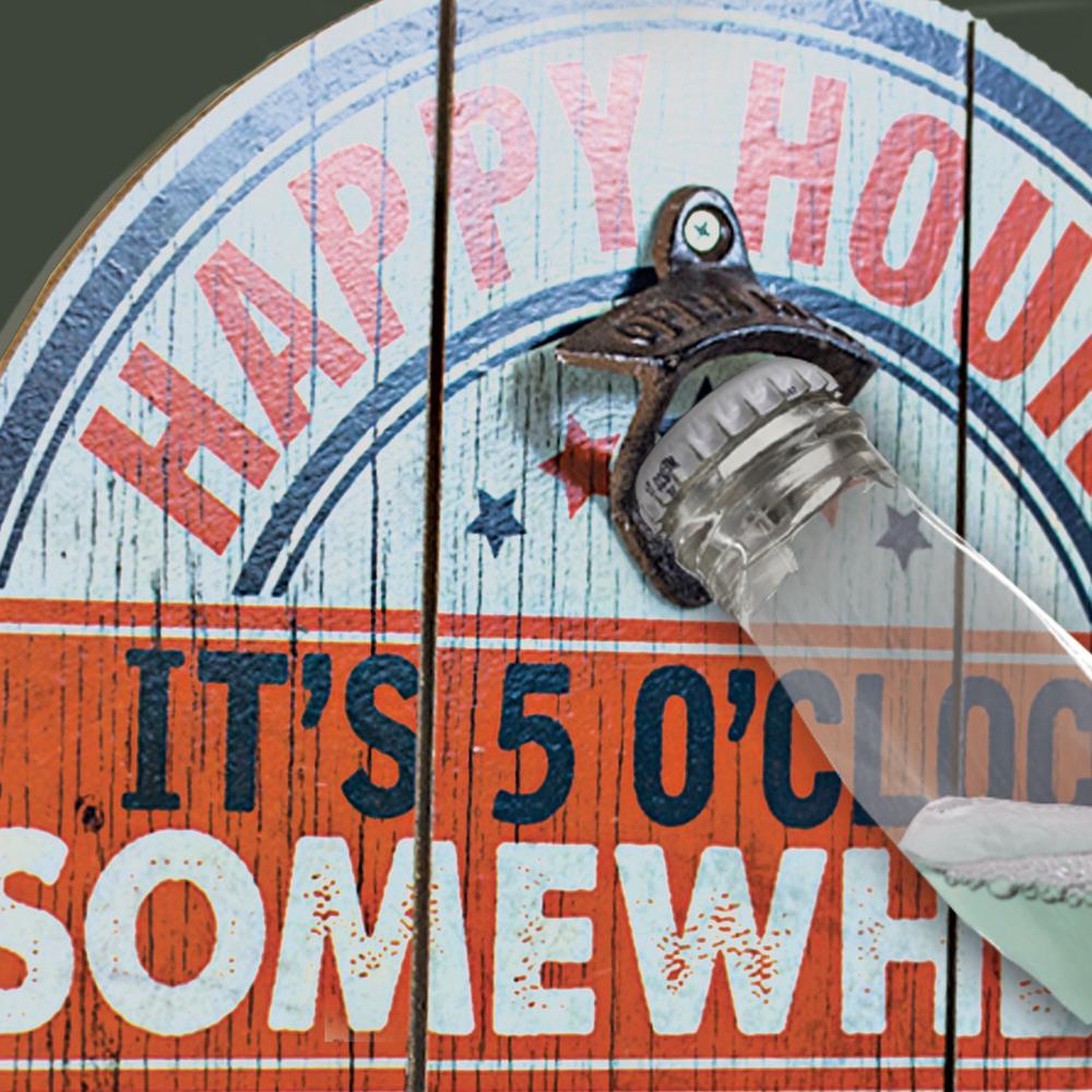 Happy Hour Bottle Opener Cap Catcher Wall Decor