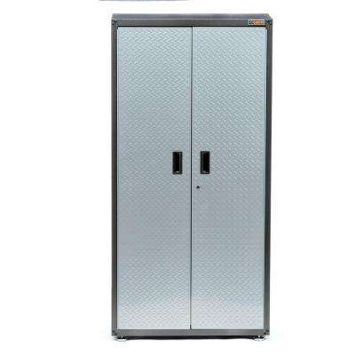 Ready-to-Assemble 72 in. H x 36 in. W x 18 in. D Steel Freestanding Garage Cabinet in Silver Tread