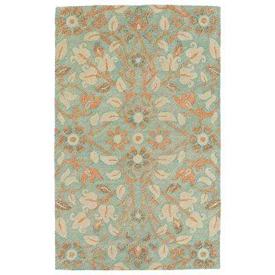 Weathered Turquoise 9 Ft X 12 Indoor Outdoor Area Rug