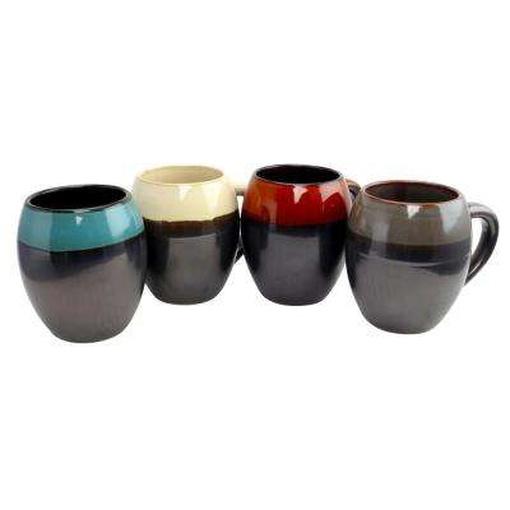 Soroca 4-Piece Assorted Colors 19.5 oz. Mug Set