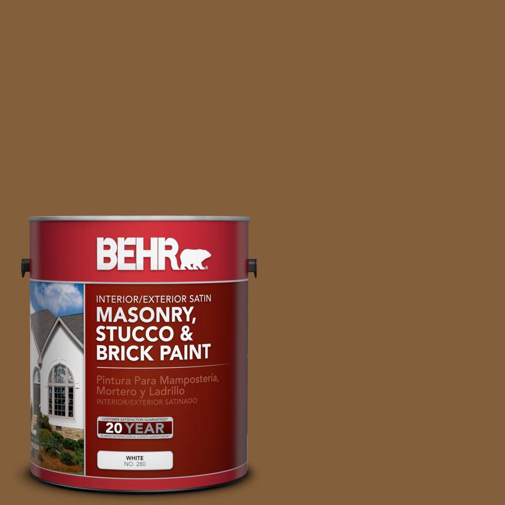 1 gal. #PPU4-18 Spice Bazaar Satin Interior/Exterior Masonry, Stucco and Brick Paint
