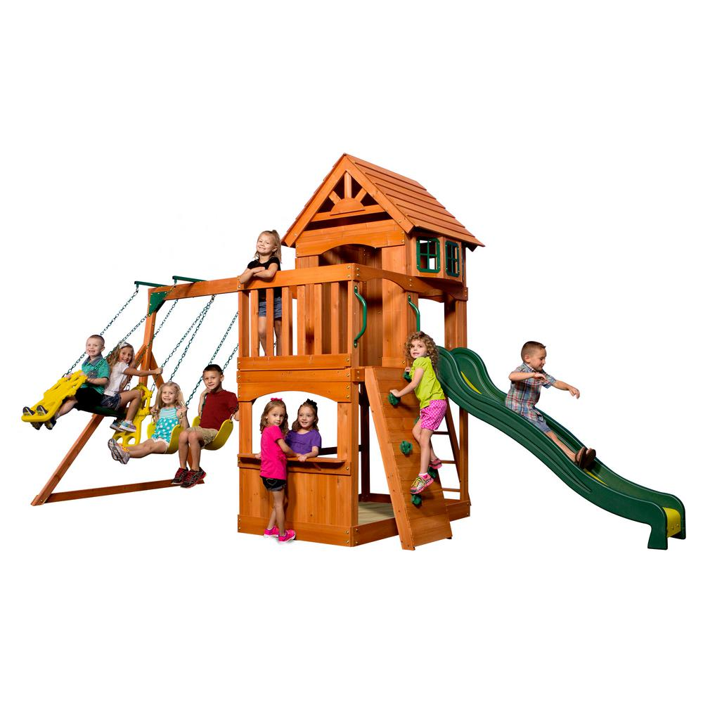 Atlantis All Cedar Playset - Backyard Discovery Prairie Ridge All Cedar Playset-55006com - The