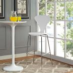 Passage 31 in. White Bar Stool