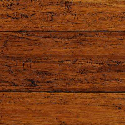 Take Home Sample - Strand Woven Harvest Click Lock Engineered Bamboo Flooring - 5 in. x 7 in.